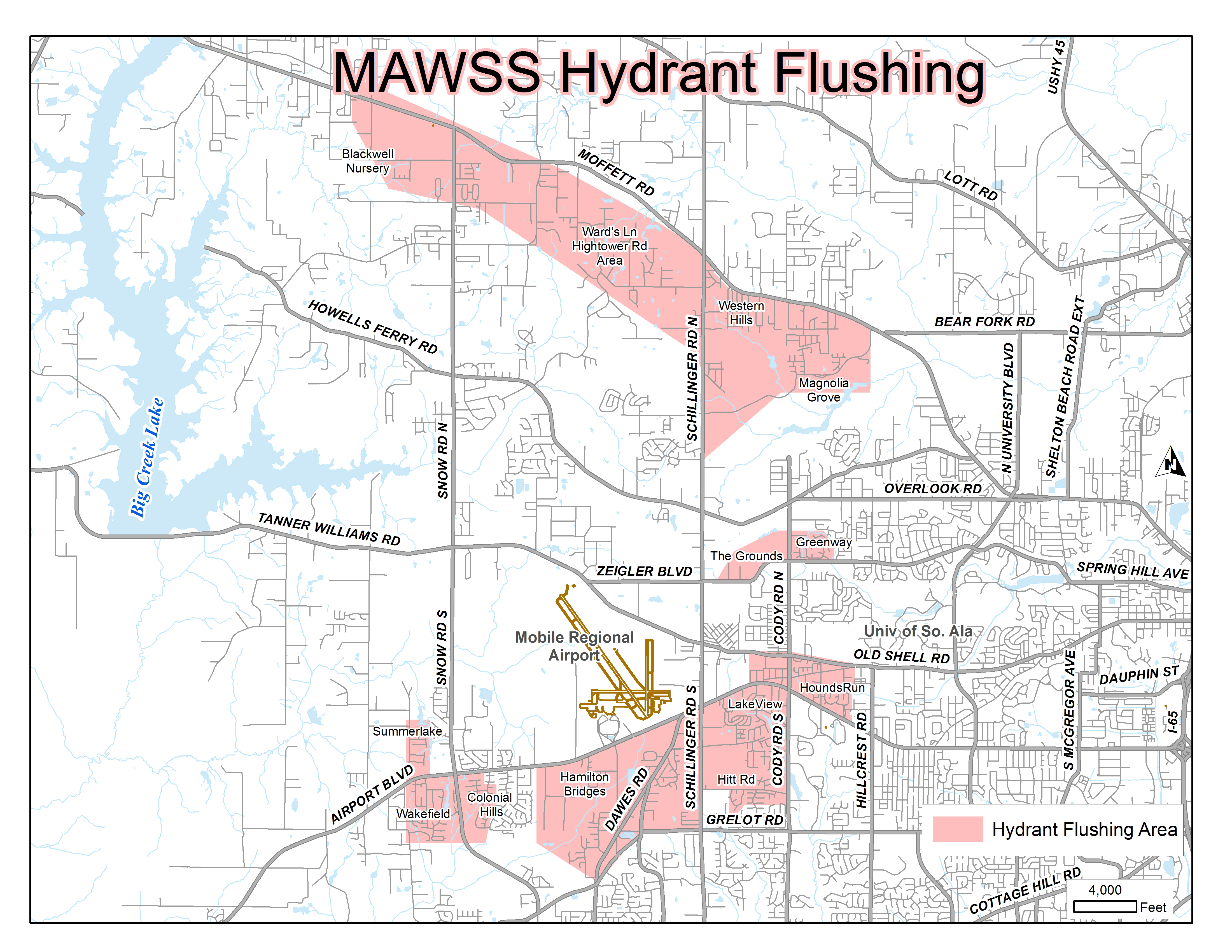 Mobile Area Water And Sewer System Hydrant Flushing Locations. Hydrant Flushing Locations. Wiring. Hydrant Flushing Mobile Home Park Diagram At Scoala.co